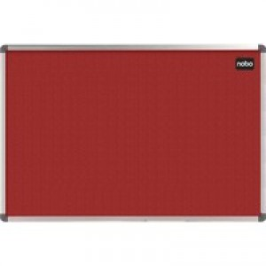 Nobo Classic Noticeboard Felt with Aluminium Frame W1200xH900mm Red Ref 1902260