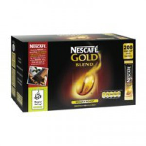 Nescafe Gold Blend Instant Coffee Granules Stick Sachets Pack 200 Code A00502