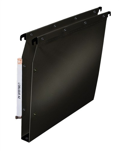 Elba Ultimate Polypro Lateral File Polypropylene 330mm 30mm Base A4 Black Ref 100330616 [Pack 25]