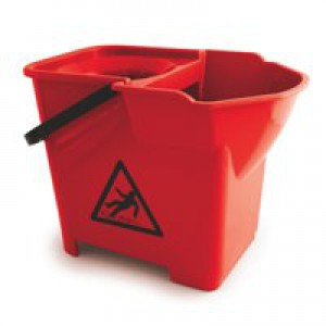 Bentley Colour Coded Mop Bucket Heavy Duty 16 Litre Capacity Red Code SPCMB16R