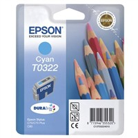 Epson Stylus C70/C80 Inkjet Cartridge T0322 Cyan 16ml C13T032240