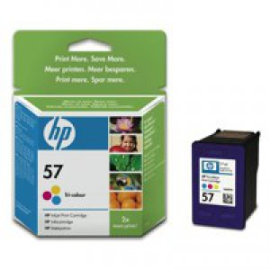 Hewlett Packard [HP] No. 57 Inkjet Cartridge Page Life 125 Photos/390pp 17ml Colour Ref C6657AE