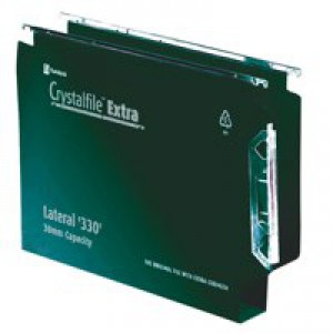 Twinlock Crystalfile Extra Lateral File Polypropylene Square-Base 30mm 330mm Green Code 300122