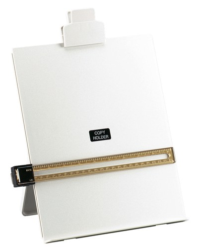 5 Star Desktop Copyholder with Line Guide Ruler A4 Grey