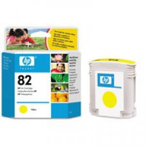Hewlett Packard [HP] No. 82 Inkjet Cartridge 69ml Yellow Ref C4913AE