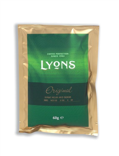Lyons Original Ground Coffee for Filter 3 Pint Sachet Ref A02990 [Pack 50]