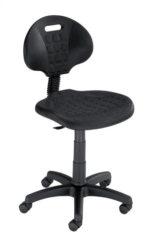 Trexus Lab Chair Gas Lift Easy-clean Seat H330mm W470xD435xH450-580mm Black