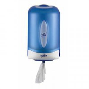 Reflex Mini Wiper Dispenser Centrefeed Plastic W182xD210xH297mm Smoked Blue Ref E022392