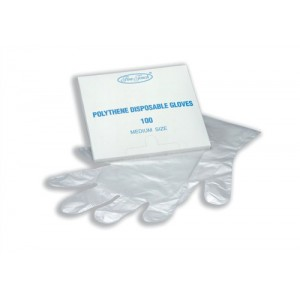 Disposable Gloves Polythene Pack 100 Code P00969