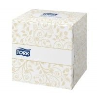 Image for Lotus Facial Tissues Cube Peach Box 2 ply 90 Sheets White Ref E02157D [Pack 18]