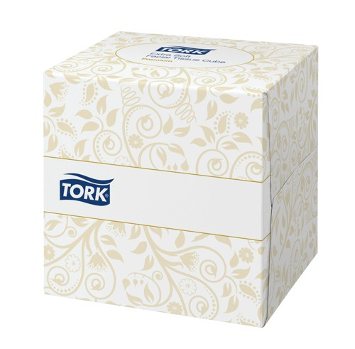 Lotus Facial Tissues Cube Peach Box 2 ply 90 Sheets White Ref E02157D [Pack 18]