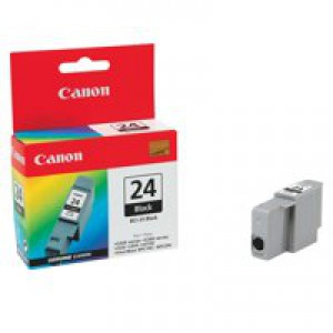 Canon BCI-24BK Inkjet Cartridge Page Life 130pp Black Ref 6881A002AA