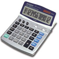 Aurora DT401 Desktop Calculator Euro Battery/Solar-power 12 Digit 4 Key Memory
