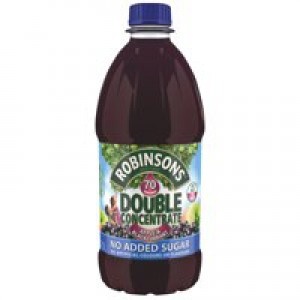 Robinsons Squash Double Concentrate No Added Sugar 1.75 Litres Apple and Blackcurrant Ref A02116 [Pack 2]