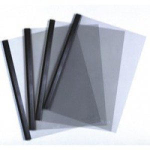 Report Cover Combi Pack A3 Folded to A4 and Spine Bar 60 Sheets 6mm Black Pack 100