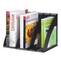 Multipurpose Storage Rack and Sorter Vertical Capacity A4 Black