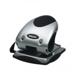 Rexel P240 Punch 2-Hole Heavy-duty with Nameplate Capacity 40x 80gsm Silver and Black Ref 2100748