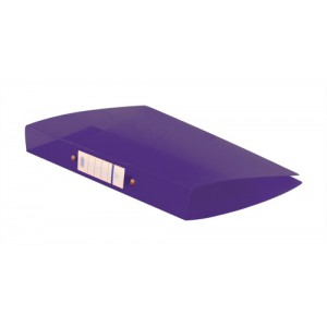Elba Snap Ring Binder Polypropylene 2 O-Ring 25mm Size A4 Purple Ref 400002003 [Pack 10]