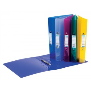 Elba Snap Ring Binder Polypropylene 2 O-Ring 25mm Size A4 Assorted Ref 400001907 [Pack 10]