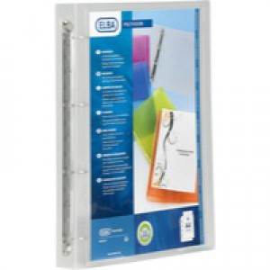 Elba Polyvision Presentation Ring Binder Polypropylene 4 Ring 25mm A4 Clear Ref 100081049 [Pack 12]