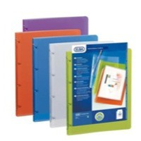 Elba Polyvision Presentation Ring Binder Polypropylene 4 Ring 25mm A4 Assorted Ref 100201430 [Pack 12]