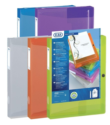 Elba Filing Box Polypropylene 40mm Capacity A4 Assorted Ref 100200136 [Pack 8]