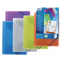 Image for Elba Polyvision Document Wallet 3-Flap Polypropylene Elasticated Assorted Ref 100201150 [Pack 12]