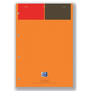 Oxford 001 International Notepad 160 Pages A4+ Orange and Grey Code 100102359