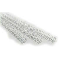 GBC A4 9.5mm 34-Loop Wires 3:1 Pitch Silver Pack 100 Code RG810697
