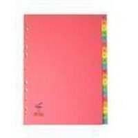 Concord Bright Subject Dividers Europunched A-Z A4 Assorted Ref 52499