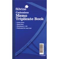Silvine Triplicate Book 8.1x5 inches Carbonless Memo 705