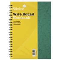 Image for Silvine Notebook Twinwire Sidebound Hardcover Perforated Ruled 192 Pages 75gsm A4 Ref SPA4