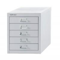 Image for Bisley SoHo Multidrawer Cabinet 5-Drawer H325mm Chalk White Ref H125NL-26