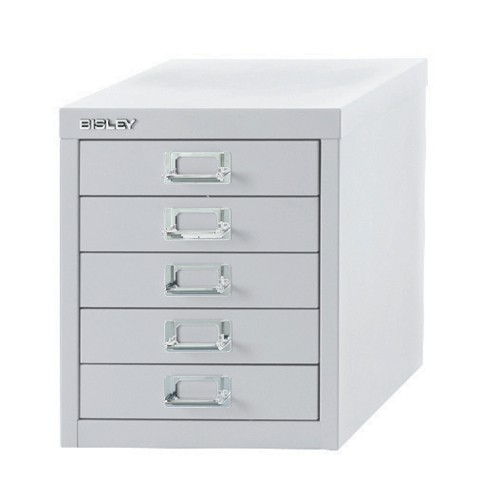 Bisley SoHo Multidrawer Cabinet 5-Drawer H325mm Chalk White Ref H125NL-26