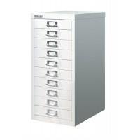Image for Bisley SoHo Multidrawer Cabinet 10-Drawer H590mm Chalk White Ref H2910NL-26