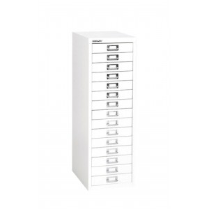 Bisley SoHo Multidrawer Cabinet 15-Drawer H860mm Chalk White Ref H3915NL-26