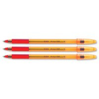 Bic Orange Grip Ballpoint Pen Red 820543