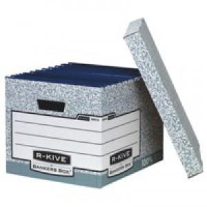 R-Kive System Standard Storage Box Foolscap W333xD390xH285mm Ref 00810-FF [Pack 10]