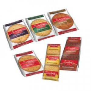 Crawfords Mini Packs Assorted Biscuits 6 Varieties Ref VTPCBC100 [Pack 100]