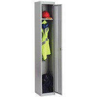 Image for Bisley Locker Deep Steel 1-Door W305xD457xH1802mm Goose Grey Ref CLK181-73