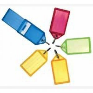 Key Hanger Sliding with Fob Label Area 55x30mm Tag Size Large 75x37mm Assorted [Pack 50]