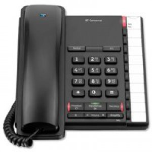 BT Converse 2200 Telephone Wall-Mountable 10 Number Memory Black Code 040208