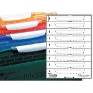 Rexel Crystalfile Classic Card Inserts for Crystal Link Tabs White Ref 3000039 [Pack 50]