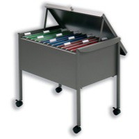 Filing Trolley Suspension with Lockable Lid for 100 Files