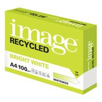 Image for Image Recycled Bright White 100% Recycled A4 210X297mm 100Gm2 Packed 500