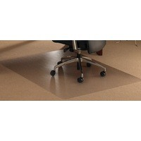 Chair Mat Polycarbonate Contoured for Carpet Protection 990x1250mm Clear