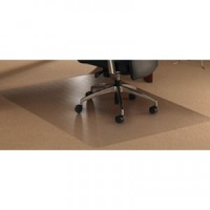 Chair Mat Polycarbonate Rectangular for Carpet Protection 1190x750mm Clear