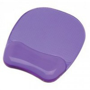 """Fellowes Crystalsâ""""¢ Gel Mouse Pad/Wrist Support Purple"""