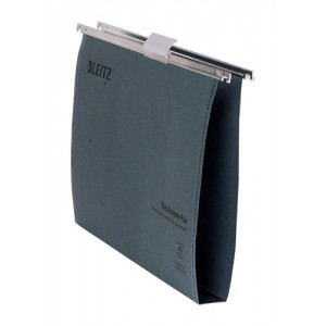 Leitz Ultimate Suspension File Recycled with Tabs Inserts 30mm Foolscap Green Ref 17450055 [Pack 50]