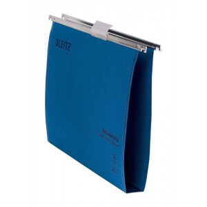 Leitz Ultimate Suspension File Recycled with Tabs Inserts 30mm Foolscap Blue Ref 17450035 [Pack 50]
